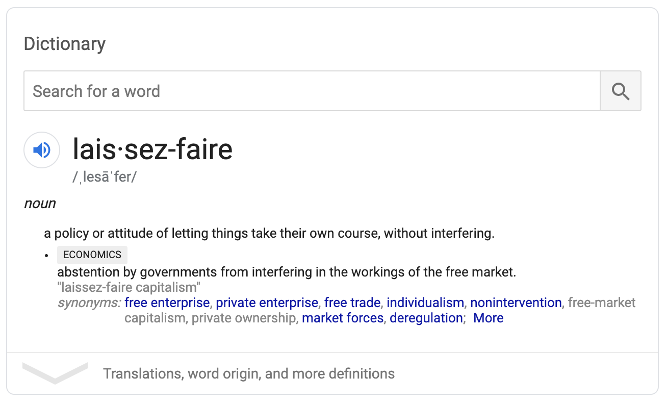 Anti-laissez-faire by Parker Klein